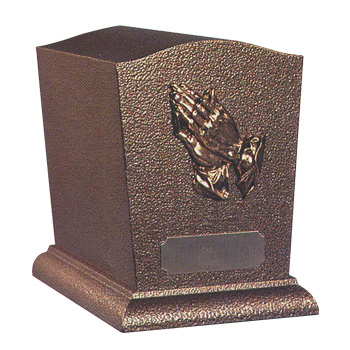 Serenity Gold Urn<br />(7.5 in. H x 5.75 in. W x 9.0 in. D)