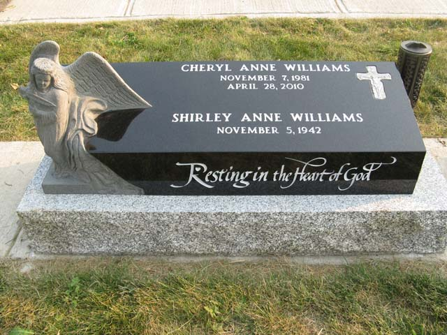Pillow style granite monument