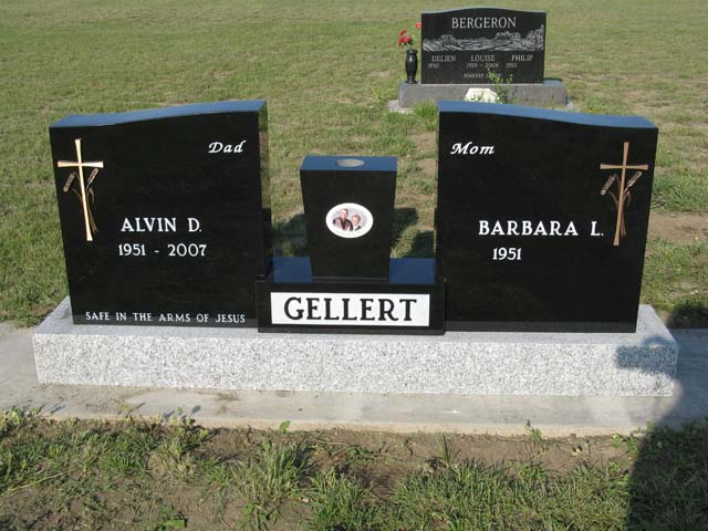 Special upright style monuments are a unique way to memorialize a loved one. Stop by our shop to see our monuments.
